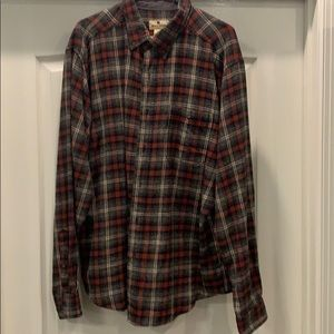 Woolrich long sleeve flannel cotton shirt XL